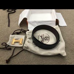 Hermès Men's reversible 32mm size 90 belt.